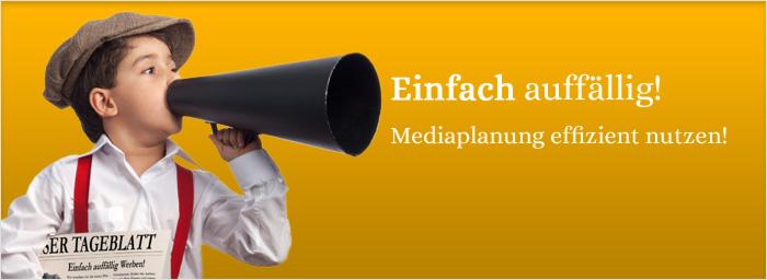 Klassische Media Planung und Werbemittelerstellung, die mit einer konkreten Bedarfsanalyse und transparenten Budgetplanung Ihre Zielgruppe erreicht