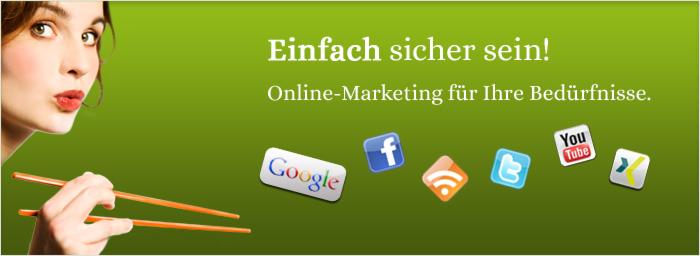 Online-Marketing steht für Suchmaschinenoptimierung, Online-PR, Suchmaschinenmarketing sowie Social Media Marketing